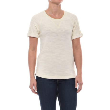 Woolrich Wayside Shirt - Short Sleeve (For Women) in Wool Cream