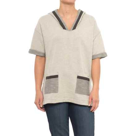 Woolrich Wayside Tunic Hoodie - Short Sleeve (For Women) in Stoneware - Closeouts