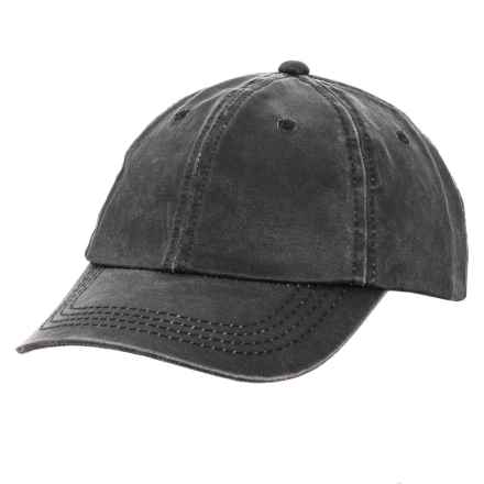 Woolrich Weathered Baseball Cap (For Men) in Black - Closeouts