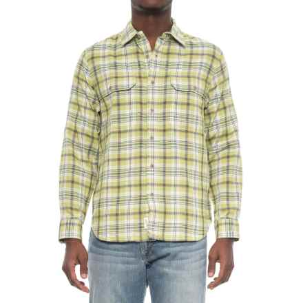 Woolrich Weekend Eco Rich Shirt - Long Sleeve (For Men) in Leaf Green - Overstock