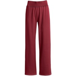 Woolrich Weekend Wear Lounge Pants - Stretch French Terry Cotton (For Women) in Ruby