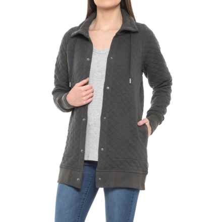 Woolrich West Creek Quilted Long Jacket (For Women) in Asphalt - Closeouts