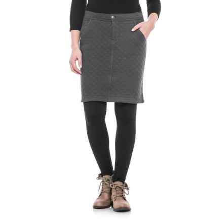 Woolrich West Creek Quilted Skirt (For Women) in Asphalt - Closeouts