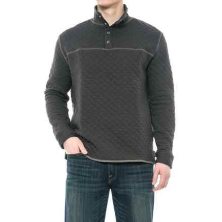Woolrich West Creek Quilted Sweater - Snap Neck (For Men) in Aph Asphalt - Closeouts