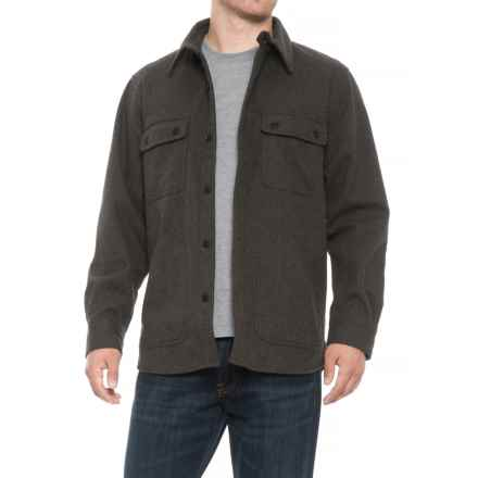 Woolrich West Ridge Shirt Jacket (For Men) in Black Htr - Closeouts