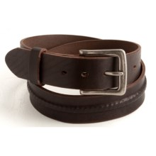 Woolrich Westside Belt - Leather (For Men) in Brown - Closeouts