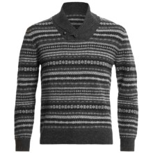Woolrich Westview Sweater - Lambswool (For Men) in Charcoal Combo - Closeouts