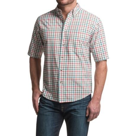 Woolrich Weyland Plaid Shirt - Short Sleeve (For Men) in Barn Check