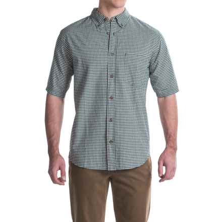 Woolrich Weyland Plaid Shirt - Short Sleeve (For Men) in Deep Indigo Plaid - Closeouts