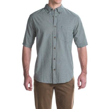 Woolrich Weyland Plaid Shirt - Short Sleeve (For Men) in Deep Indigo Plaid