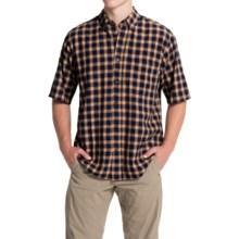 Woolrich Weyland Plaid Shirt - Short Sleeve (For Men) in Deep Indigo - Closeouts