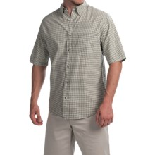 Woolrich Weyland Plaid Shirt - Short Sleeve (For Men) in Field Gray - Closeouts