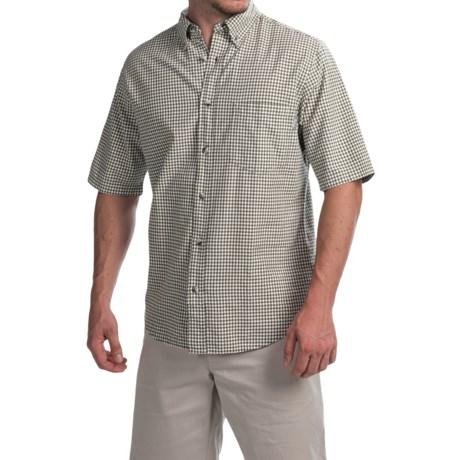 Woolrich Weyland Plaid Shirt - Short Sleeve (For Men) in Field Gray