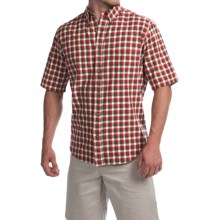 Woolrich Weyland Plaid Shirt - Short Sleeve (For Men) in Old Red - Closeouts