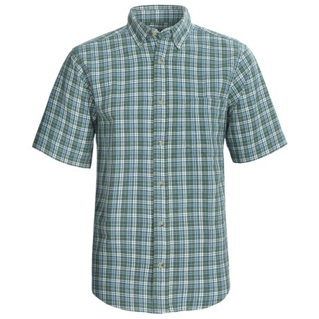Woolrich Weyland Shirt - Short Sleeve (For Men) in Nile Blue