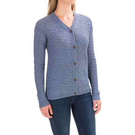 Woolrich Whispering Pines Cardigan Sweater (For Women) in Bayou Heather - Closeouts