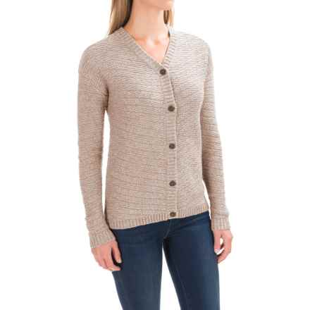 Woolrich Whispering Pines Cardigan Sweater (For Women) in Wool Cream Heather - Closeouts