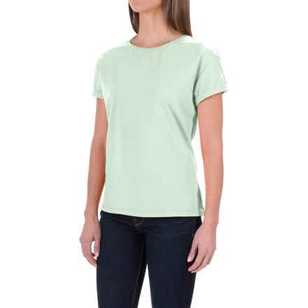 Woolrich White Forks T-Shirt - Short Sleeve (For Women) in Fresh Mint - Closeouts