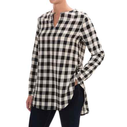 Woolrich White Label Air Flannel Tunic Shirt - Long Sleeve (For Women) in Black Cherry - Closeouts