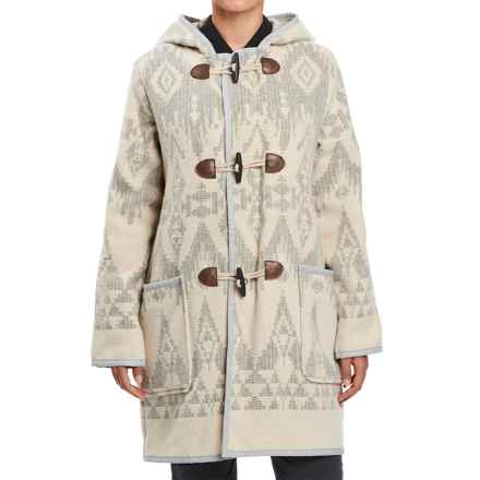 Woolrich White Label Mill Wool Duffle Jacket (For Women) in Oatmeal - Closeouts