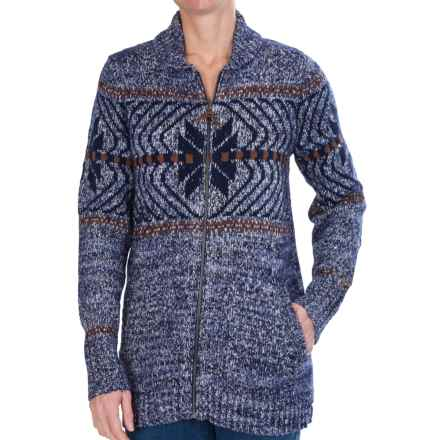Woolrich White Label Native Cardigan Sweater (For Women) in Navy Marl - Closeouts