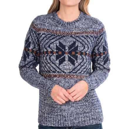 Woolrich White Label Native Crew Sweater (For Women) in Navy Marl - Closeouts