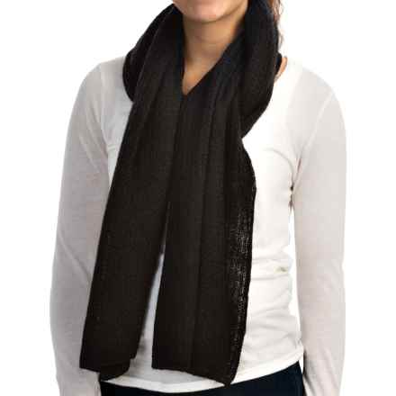 Woolrich White Label Snow Scarf (For Women) in Black - Closeouts
