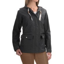 Woolrich White Label Waxed Heritage Jacket (For Women) in Asphalt - Closeouts