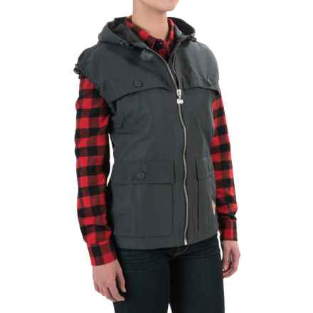Woolrich White Label Waxed Heritage Stag Vest (For Women) in Asphalt - Closeouts