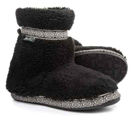 Woolrich Whitecap Fleece Slippers (For Women) in Black - Closeouts