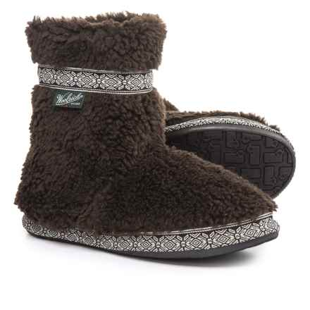 Woolrich Whitecap Fleece Slippers (For Women) in Java - Closeouts