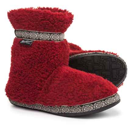 Woolrich Whitecap Fleece Slippers (For Women) in Red Dahlia - Closeouts