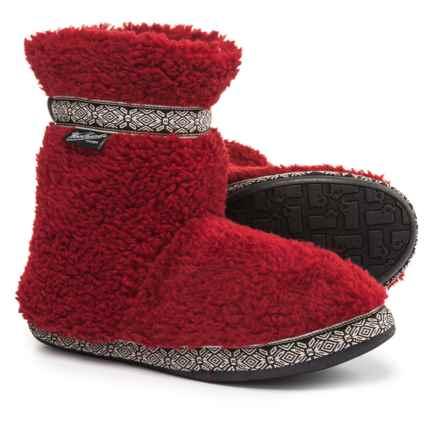 Woolrich Whitecap Fleece Slippers (For Women) in Red Dahlia - Closeouts