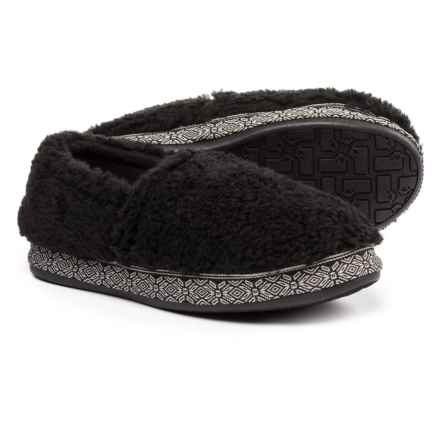 Woolrich Whitecap Moccasin Fleece Slippers (For Women) in Black - Closeouts