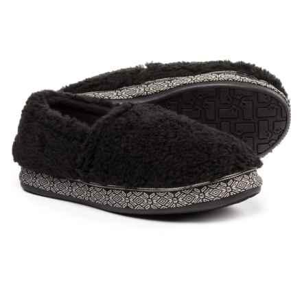Woolrich Whitecap Moccasin Fleece Slippers (For Women) in Black - Closeouts