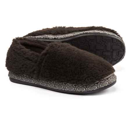 Woolrich Whitecap Moccasin Fleece Slippers (For Women) in Java - Closeouts