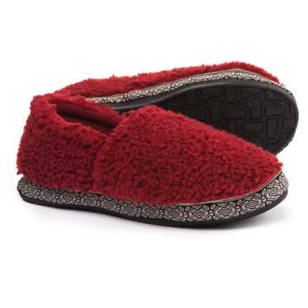 Woolrich Whitecap Moccasin Fleece Slippers (For Women) in Red Dahlia - Closeouts