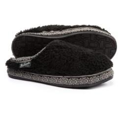 Woolrich Whitecap Mule Fleece Slippers (For Women) in Black