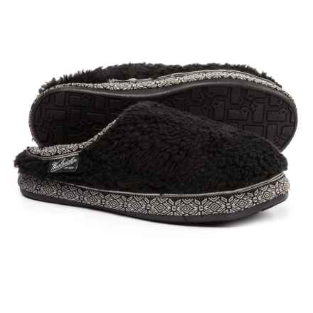 Woolrich Whitecap Mule Fleece Slippers (For Women) in Black - Closeouts