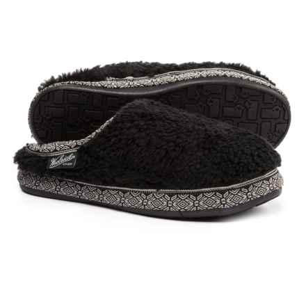 Woolrich Whitecap Mule Fleece Slippers (For Women) in Black - Closeouts