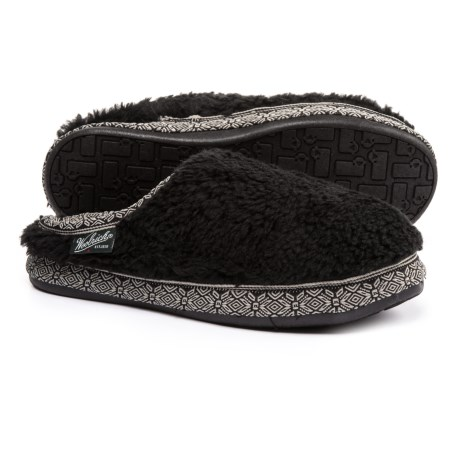 Woolrich Whitecap Mule Fleece Slippers (For Women) in Black