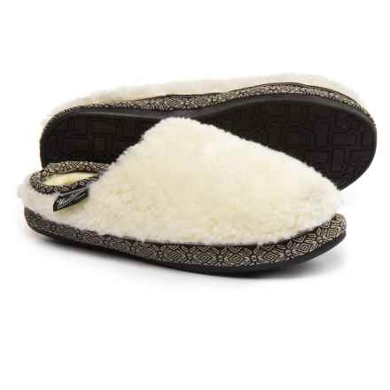 Woolrich Whitecap Mule Fleece Slippers (For Women) in Creampuff - Closeouts
