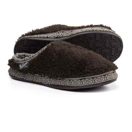Woolrich Whitecap Mule Fleece Slippers (For Women) in Java - Closeouts