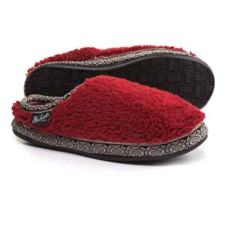 Woolrich Whitecap Mule Fleece Slippers (For Women) in Red Dahlia - Closeouts