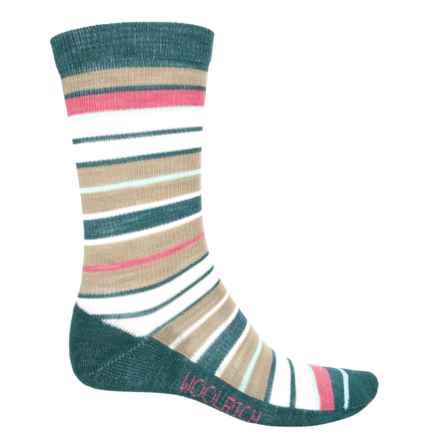 Woolrich Wide-Stripe Socks - Merino Wool, Crew (For Women) in Breeze - Closeouts