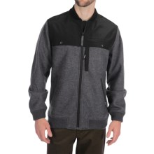 Woolrich Wilderness Jacket - Fleece (For Men) in Charcoal Heather - Closeouts