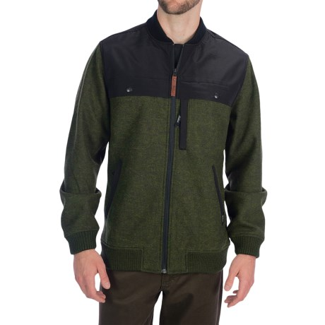 Woolrich Wilderness Jacket - Fleece (For Men) in Olive Heather