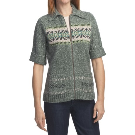 Woolrich Windsor Cardigan Sweater - Elbow Sleeve (For Women) in Spruce