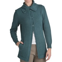 Woolrich Windward Cardigan Coat - Funnel Neck (For Women) in Deep Atlantic Heather - Closeouts