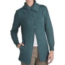 Woolrich Windward Cardigan Coat - Funnel Neck (For Women) in Deep Atlantic Heather - Closeouts
